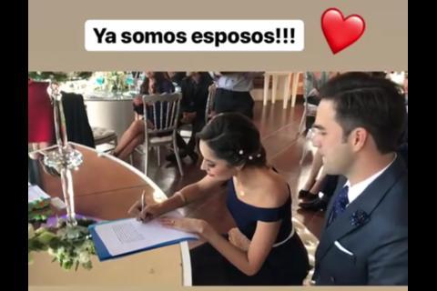 """""""Ya somos esposos"""": así fue la boda civil de Pamela Paz"""