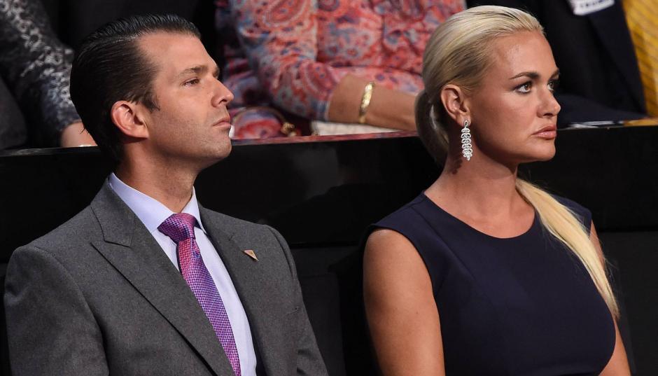 La esposa del hijo mayor de Trump le pide el divorcio