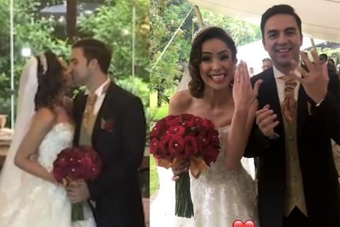 Así fue la boda de ensueño de Pamela Paz