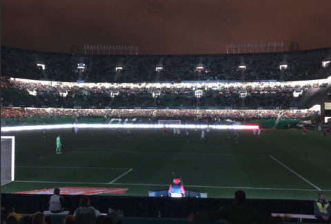 Los extraños apagones en el partido del Betis contra el Espanyol