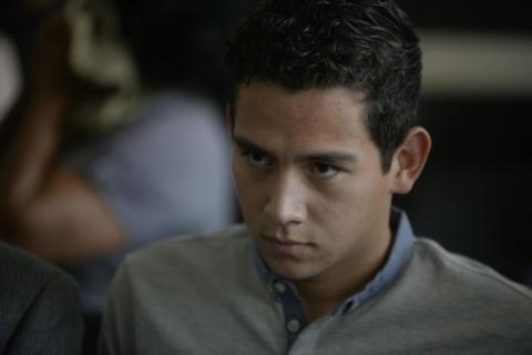 """Hijo de Jimmy Morales llegó a audiencia con nuevo """"look"""""""
