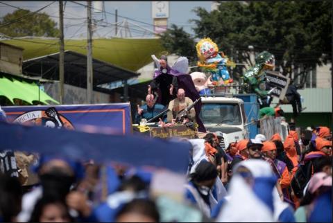 #PilasPues Tráfico en el Centro Histórico por la Huelga de Dolores