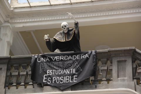 Estudiantes huelgueros denuncian amenazas de antiguos sancarlistas