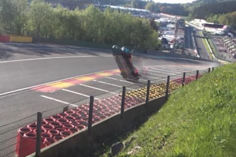 Así fue el impresionante accidente en carrera de velocidad en Bélgica