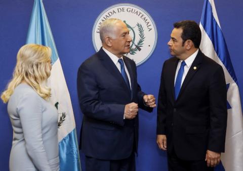 """""""Misión cumplida"""", así inauguró Jimmy Morales la sede en Jerusalén"""