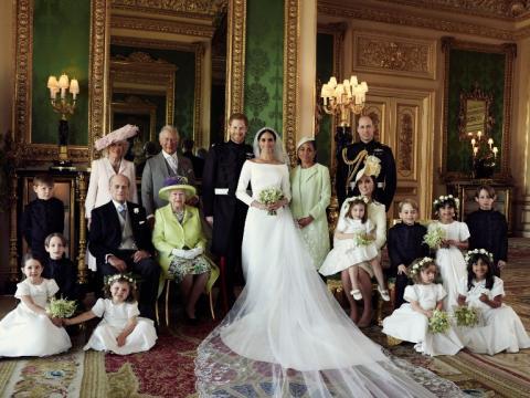 Las fotos oficiales de la boda entre príncipe Harry y Meghan Markle