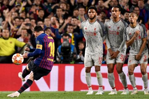 El video inédito del golazo de Messi contra el Liverpool