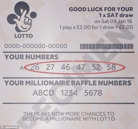 Lava pantalón con billete de lotería que tenía premio millonario