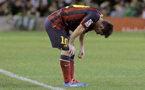 Messi siente bronca y frustración tras la lesión