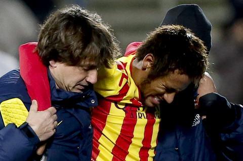 Confirman que la lesión de Neymar no es tan grave como se esperaba