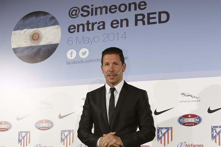 Simeone entrará al mundo de las redes sociales