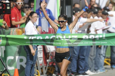 Mirna Ortiz gana la prueba de los 20k marcha con nuevo récord