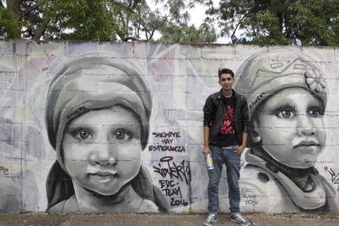 """""""Siempre hay esperanza"""", el mural que recuerda a los niños con cáncer"""