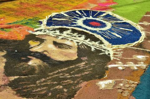 La alfombra de Jesús de la Merced, una verdadera obra de arte
