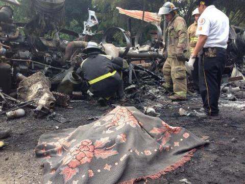 Un fallecido en explosión de cisterna en Cocales