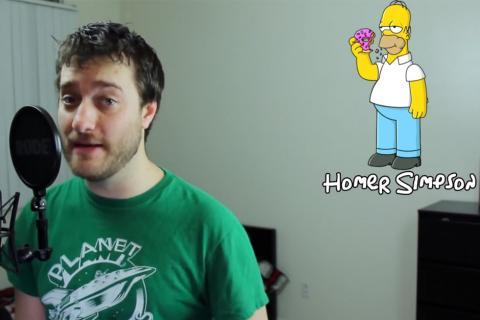 Joven comediante imita la voz de 33 personajes de Los Simpson