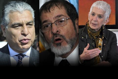 Contreras, De Torrebiarte y Zapata son los candidatos a Vicepresidente
