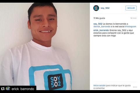El subcampeón olímpico Erick Barrondo se une a la red Instagram