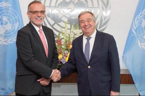 La ONU confía en que Velásquez continuará su labor en Guatemala