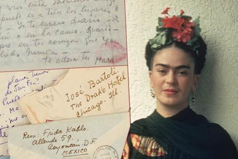 Cartas de amor de Frida Kahlo serán subastadas en Nueva York