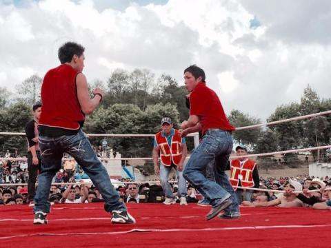 Boxeo de Chivarreto, tradición de San Francisco El Alto, Totonicapán
