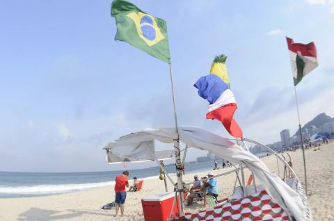 La hermosa playa de Copacabana en Río, también se viste de olímpica