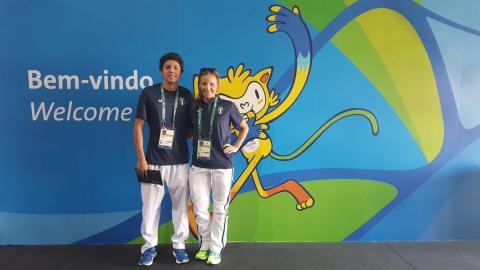 El nadador guatemalteco, Luis Carlos Martínez, ya está en Río