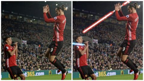 Zlatan asustó a su compañero y las redes se llenaron de geniales memes