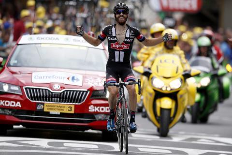 Simon Geschke se impone en el primer asalto alpino del Tour de France