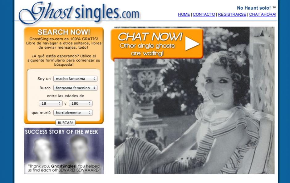 GhostSingles, una web para citas fantasmales