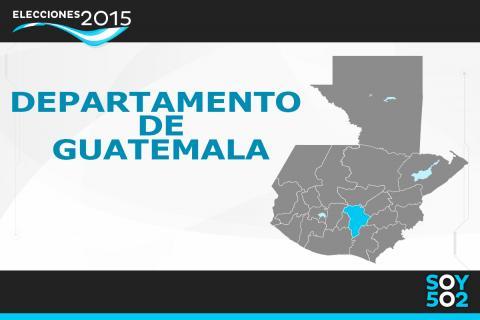 Listado de alcaldes ganadores del departamento de Guatemala