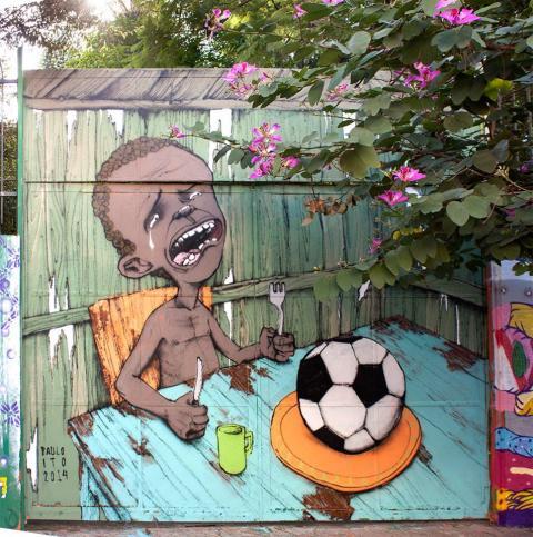La primera foto viral del Mundial 2014 es una protesta social