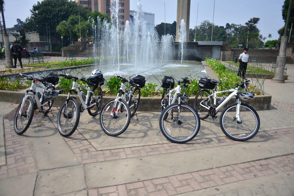 Estas son las bicicletas sobre las que patrullarán la PNC y PMT