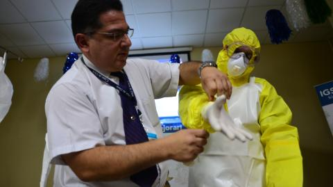 Guatemala se prepara contra el ébola