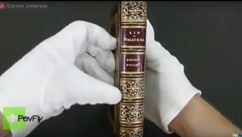 Descubren una obra de arte oculta en un libro antiguo