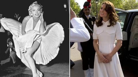 Kate Middleton sufre accidente al estilo Marilyn Monroe