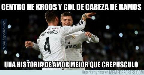 Además del doblete, Ramos también protagoniza los memes del partido