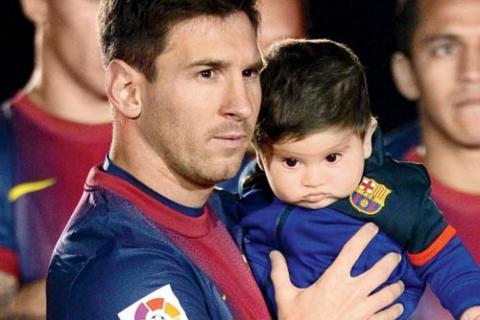 Messi celebra el cumpleaños de su hijo comprometiéndose con UNICEF