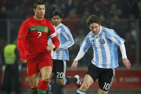 Otra vez Messi ante Ronaldo, pero ahora con Argentina y Portugal