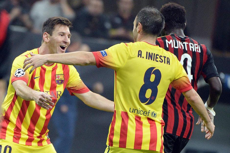 Milan y Barcelona dividen puntos en el San Siro por la Champions