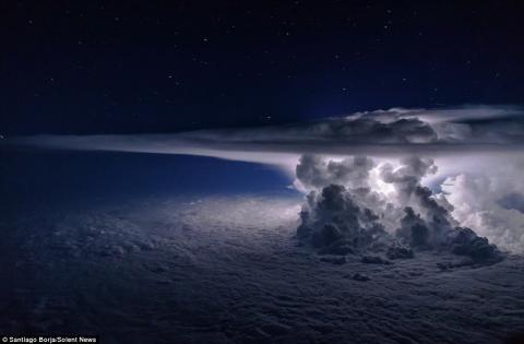 Nube apocalíptica fue captada por un piloto sobre Panamá