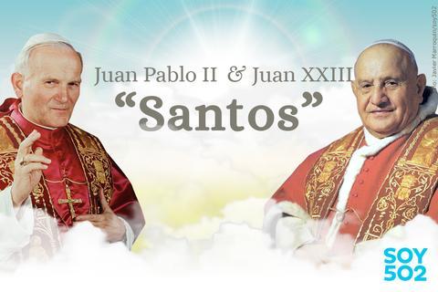Transmisión en vivo de la canonización de Juan XXIII y Juan Pablo II