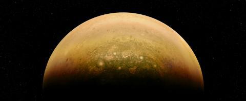 """El planeta Júpiter """"sonríe"""" en una fotografía de la NASA"""