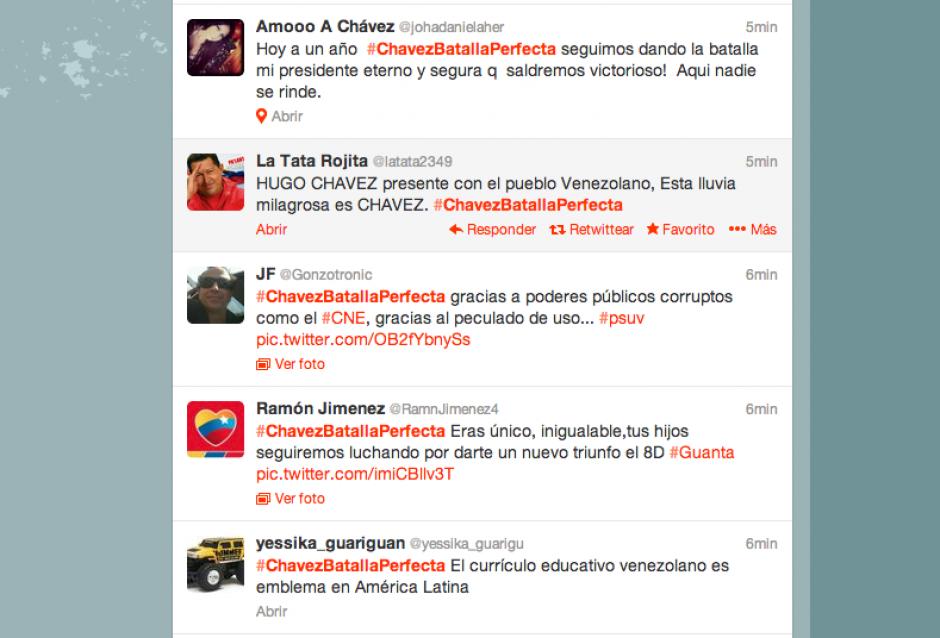 Tuiteros rememoran la victoria de Chávez en las urnas