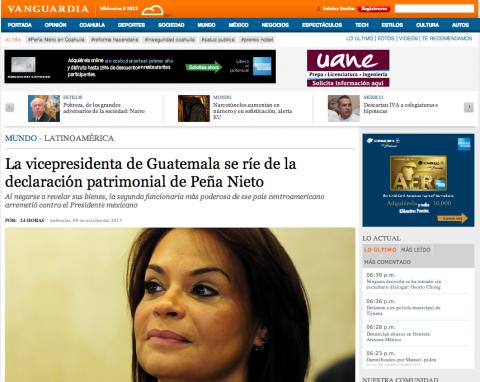 Guatemala ofrece disculpas a México por declaraciones de Baldetti