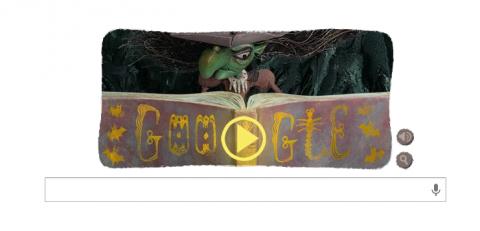 Doodle animado conmemora la noche de brujas