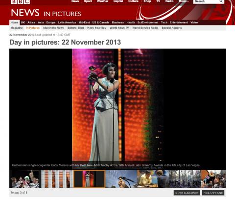 Medios internacionales informan del Latin Grammy de Gaby Moreno