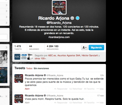 Ricardo Arjona felicita a Gaby Moreno por su Latin Grammy