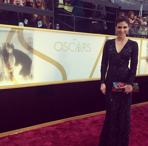 La modelo y empresaria guatemalteca Álida Boer se luce en los Óscar
