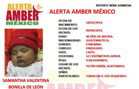 Rescatan en México a dos niñas robadas en Guatemala